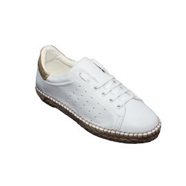 Tennis espadrilles 1035 Blanc/Or